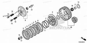 Honda Motorcycle 2016 Oem Parts Diagram For Clutch