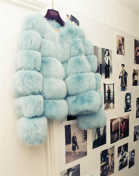 light blue faux fur coat jacket clothes fur cool cute light blue coat