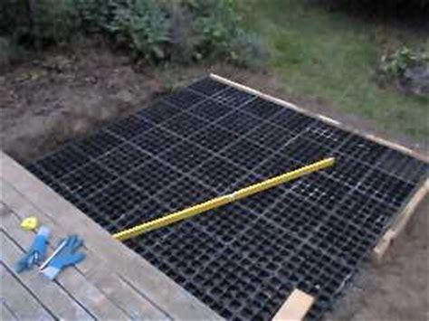 tub foundation gravel tub base installation ez and fast using stabiligrid