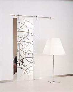 Porte in vetro scorrevoli esterno parete, binario e incasso