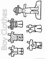 Clothes Coloring Pages sketch template