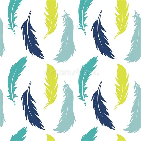 Vector Feathers, Seamless Horizontal Border. Hand Drawing ...