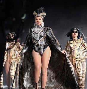 Beyonceu0026#39;s Coachella / Beychella Back Up Dancers Wear Egyptian Royalty King Tut Body Suits from ...