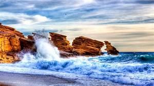2001210, Rocks, Colorful, Yellow, Beautiful, Sunset, Clouds, Sea, Splendor, Beauty, Sunrise