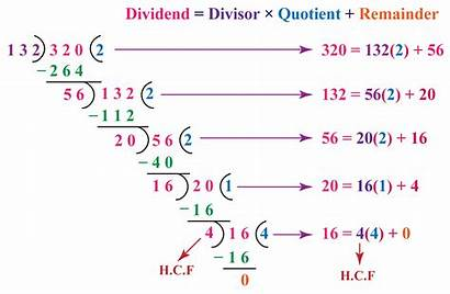 Division Algorithm Euclid Hcf Numbers Examples Method