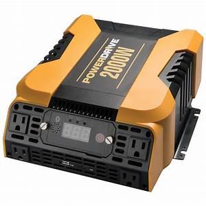 Powerdrive 2000 Watt Power Inverter W   App  Bluetooth