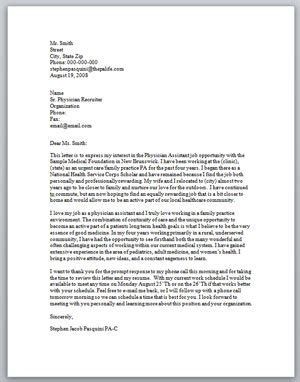 cover letter exles for physicians physician assistant cover letter sle