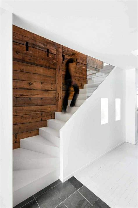 Wei C Fe Treppen Wandverkleidung Innen Holz Moderne