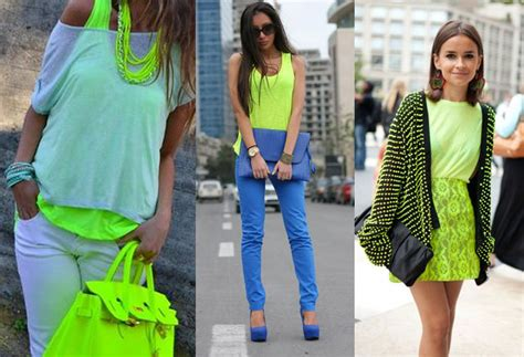 what colors go well with green colors that go with neon green clothes ideas