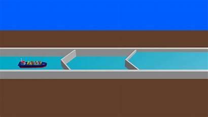 Lock Water Navigation Animated