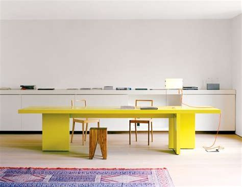 Yellow Office Desk by From The German Company E15 This Desk Interior Design