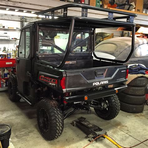 roll cage roof  safari rack installed   polaris