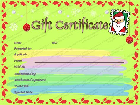 gift certificate template beautiful printable gift