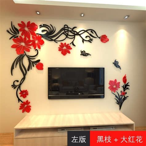 wall stickers home decor big rose tree crystal wall
