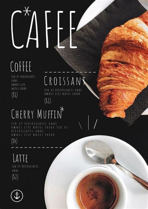 coffee shop menu template design flipsnack