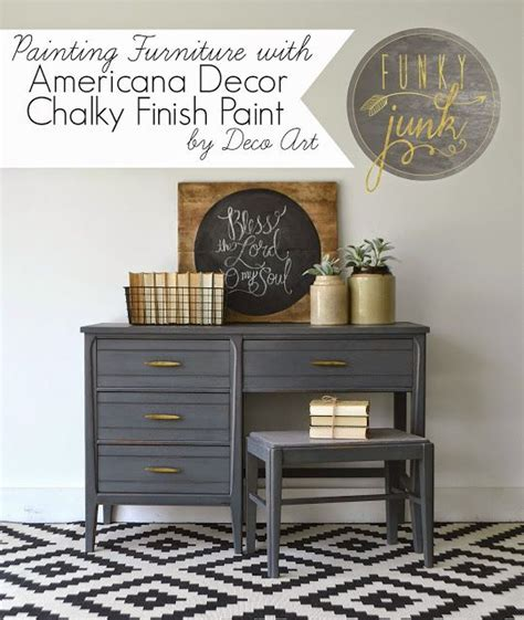 Americana Decor Chalky Finish Paint Tutorial by Painting Furniture With Deco Chalky Finish Paint