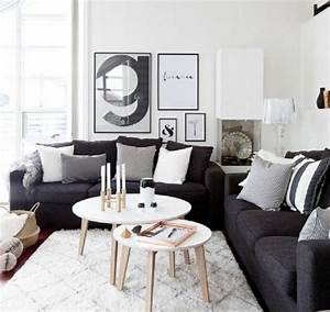 un salon en gris et blanc c39est chic voila 82 photos qui With element de decoration salon