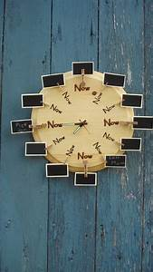 Wood, Burned, U0026quot, Be, Here, Now, U0026quot, Message, Clock, 70, 00, Via, Etsy