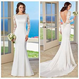 35 fantastic ideas of mermaid wedding dresses you wont be for Simple lace wedding dress with sleeves
