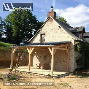 charpente bois en kit charpente hangar bois en kit With faire un plan maison 6 appentis 1 pan l wood structure