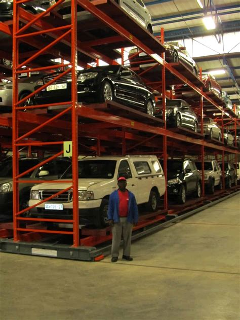 automobile storage using mobile storage rack in south africa warehouse iq