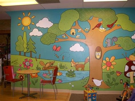 great mural for the preschool department the colors the 872 | 89b770f9f4144befe08405b6ee542d24