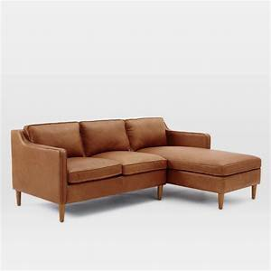 hamilton 2 piece leather chaise sectional west elm au With sectional sofas hamilton