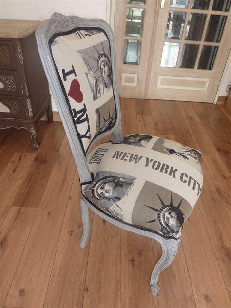 Chaise Relookée Newyork Patinée à L'ancienne L'atelier