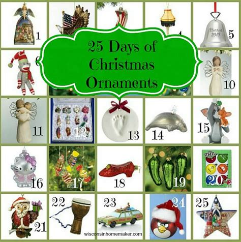 25 days of christmas tree ornaments gifts ideas