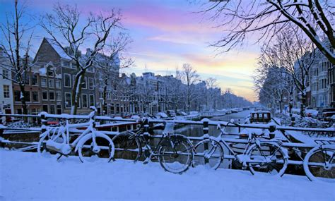 Snowfall In The Netherlands Travel Problems Ahead