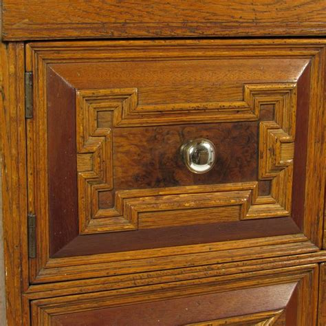 Cabinet Knobs For Oak Cabinets by Antique Carved Oak Lift Top Cabinet Chest With Original