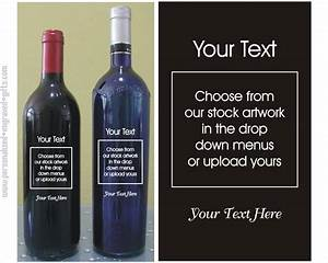design your own customized engraved wine bottle With design your own wine bottle