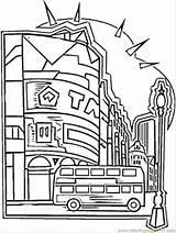 Coloring London Telephone England Booth Ausmalbilder Stadt Britain Template Dibujos Kostenlos Aehnliche Kategorien sketch template