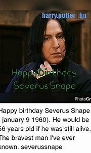 Harry Potter Hp Severus Snape PhotoGrid Happy Birthday ...