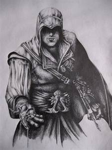 Ezio Auditore Da Firenze Drawing - BlackVampire © 2018 ...