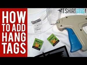 How to add hang tags to your t shirts youtube for How to make shirt tags