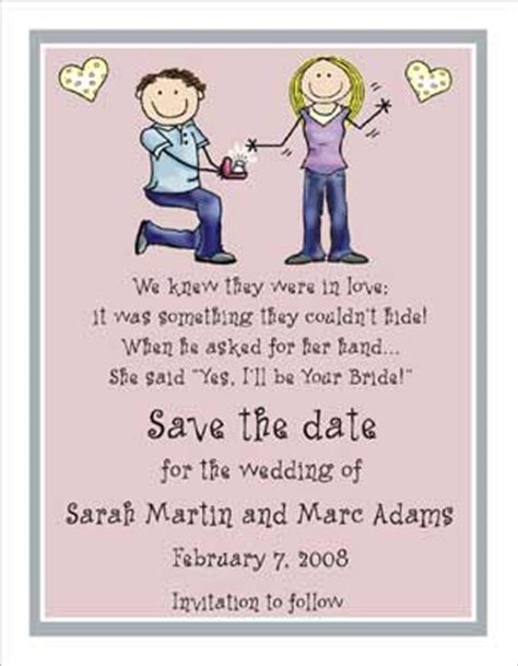 wedding ring personalized party invitations