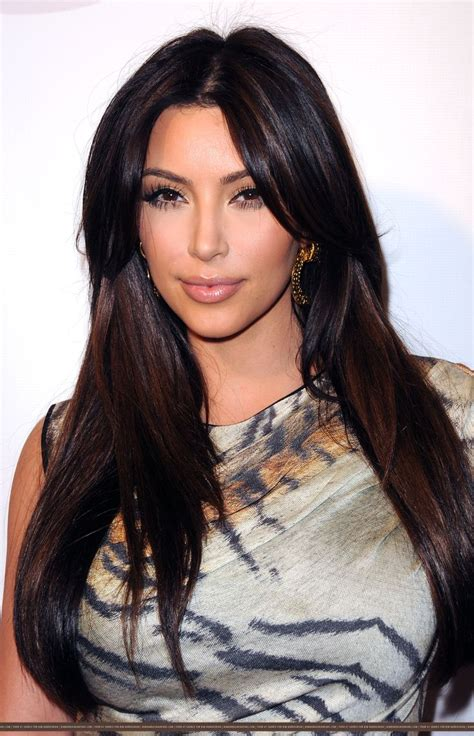 long  straight hair kim kardashian  hair