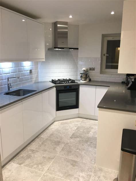 wickes high gloss white kitchen sofia range grey quartz