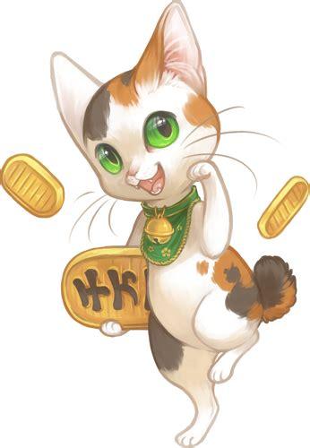 anime japanese cat lucky cat on