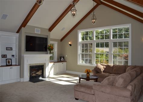 Elegant Living Above Garage  Traditional  Family Room
