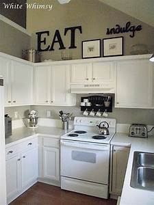25 best ideas about above cabinet decor on pinterest for Kitchen colors with white cabinets with phrase wall art