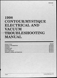 1998 Ford Contour Mercury Mystique Electrical Troubleshooting Manual 98 Wiring