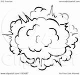 Explosion Comic Poof Burst Clipart Vector Illustration Royalty Tradition Sm Coloring Pages Template sketch template