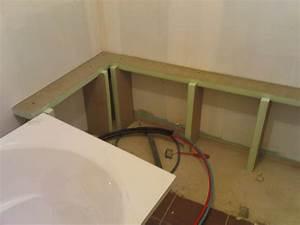 Habillage De Baignoire : panneau carreler habillage baignoire bathroom ~ Premium-room.com Idées de Décoration