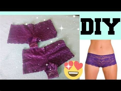 diy lace underwear     minutes youtube