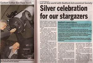 Bedford Astronomical Society - Article on 25th Anniversary ...