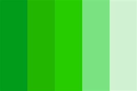 shades of green color 5 shades of green color palette