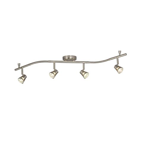brushed nickel track lighting kits galaxy lighting 755595bn 4 light halogen flexible track