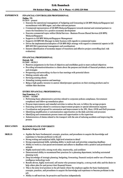 Financial Professional Resume Samples | Velvet Jobs